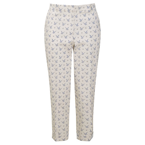 Buy Somerset by Alice Temperley Bird Print Trousers, Cream/Navy Online at johnlewis.com