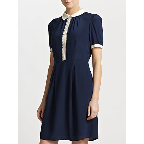 Buy Somerset by Alice Temperley Tipped Shirt Dress, Navy Online at johnlewis.com