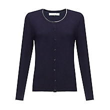 Buy COLLECTION by John Lewis Alicia Contrast Tipping Cardigan, Navy/Cream Online at johnlewis.com