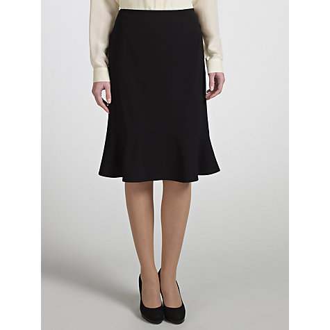 Buy COLLECTION by John Lewis Hana Frill Pencil Skirt, Black Online at johnlewis.com