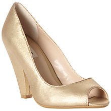 Buy Dune Cater Peep Toe Court Shoes, Champagne Online at johnlewis.com