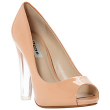Buy Dune Clarity Patent Transparent Block Heel Court Shoes Online at johnlewis.com