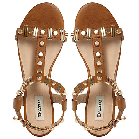 Buy Dune Funkie Bold Stud T-Bar Sandals Online at johnlewis.com