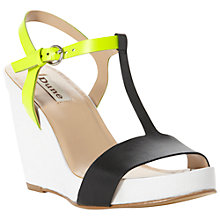 Buy Dune Genius Leather Wedge T-Bar Sandals Online at johnlewis.com