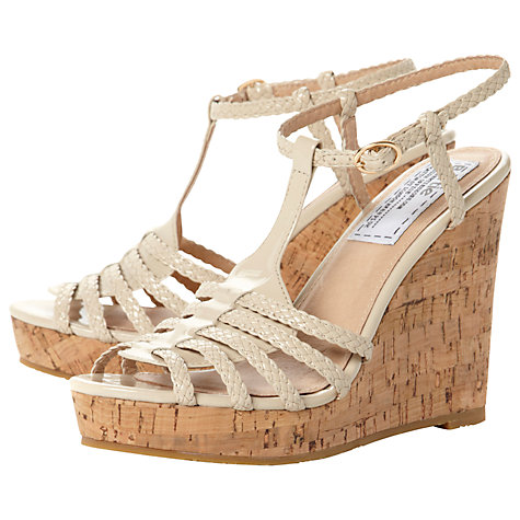 Buy Bertie Gleen Plaited Strap Wedge Sandals Online at johnlewis.com