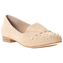 Buy Dune Lamb Square Stud Detail Suede Slipper Pumps Online at johnlewis.com