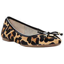 Buy Dune Monica Hair-On Leather Bow Trim Pumps, Leopard Online at johnlewis.com