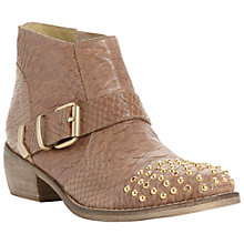 Buy Bertie Pendy Leather Studded Toe Ankle Boots Online at johnlewis.com
