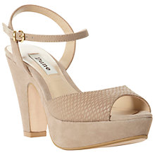 Buy Dune Florida Suede Slingback Platform Heeled Sandals Online at johnlewis.com