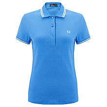 Buy Fred Perry Women's Twin Tipped Polo Shirt Online at johnlewis.com