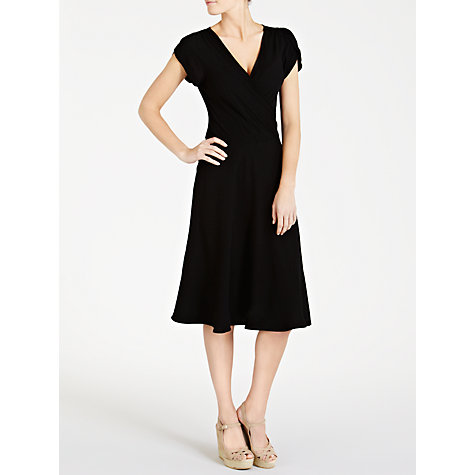 Buy Ghost Jodie Crepe Dress, Black Online at johnlewis.com