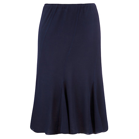 Buy Ghost Marina Crepe Skirt, Indigo Online at johnlewis.com