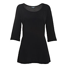 Buy Ghost Sandra Crepe Long Sleeve Top, Black Online at johnlewis.com