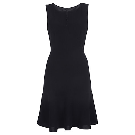 Buy Jigsaw Fine Wool Square Neck Dress, Black Online at johnlewis.com