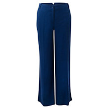 Buy East Wide Leg Linen Trousers, Cobalt Online at johnlewis.com
