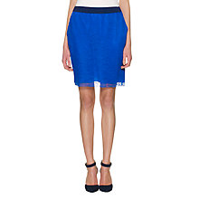 Buy Whistles Sporty Lace Skirt, Blue Online at johnlewis.com