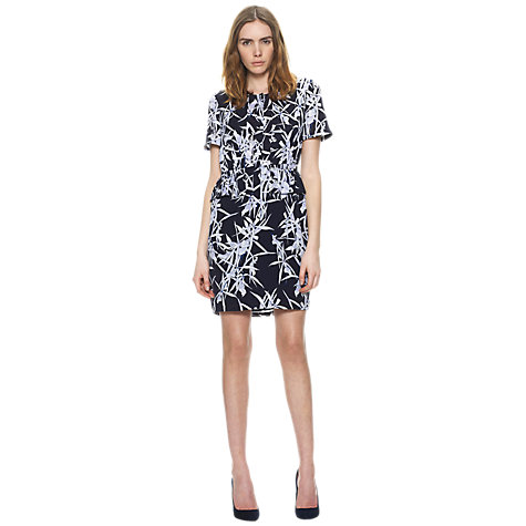 Buy Whistles Iseline Orchid Print Dress, Multi Online at johnlewis.com