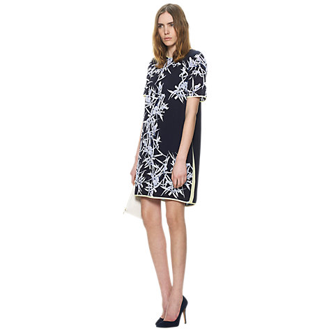 Buy Whistles Orchid Print Shift Dress, Multi Online at johnlewis.com