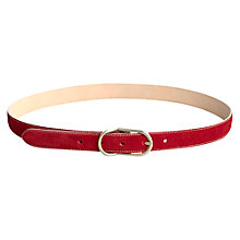 Buy Jigsaw Nubuck Mid Belt Online at johnlewis.com