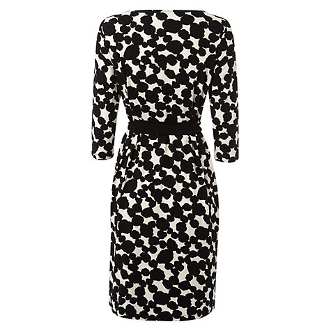 Buy Hobbs Soho Dress, Black/Ivory Online at johnlewis.com