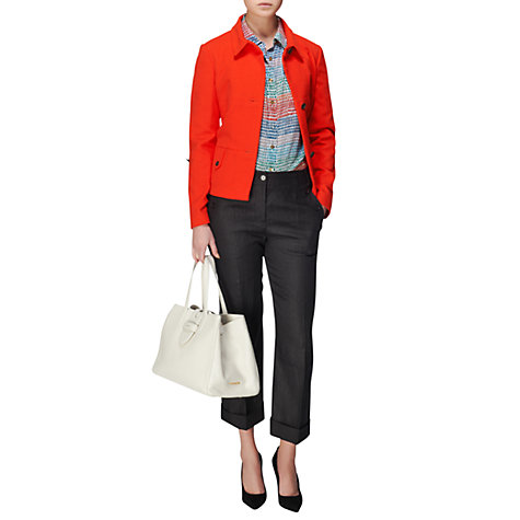 Buy Jaeger Panel Rolled Sleeve Jacket, Red Online at johnlewis.com