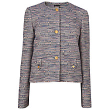 Buy Jaeger Textured Jacket, Blue Online at johnlewis.com
