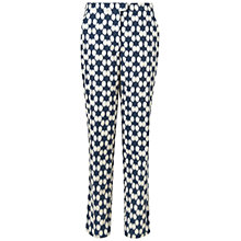 Buy Jaeger Spot Print Trousers, Navy Online at johnlewis.com
