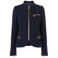 Buy Jaeger Bouclé Jacket, Navy Online at johnlewis.com
