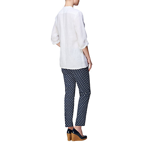 Buy Jaeger Spotty Ankle Trousers, Navy Online at johnlewis.com