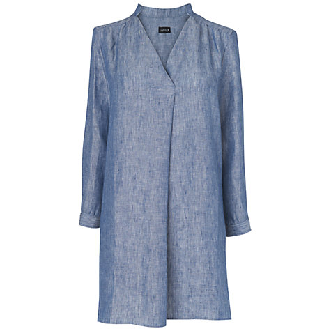 Buy Jaeger Linen Tunic Top, Chambray Online at johnlewis.com