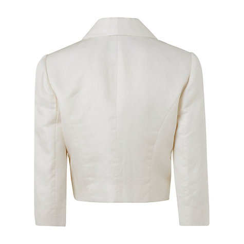 Buy Jaeger Edge to Edge Jacket, Ivory Online at johnlewis.com
