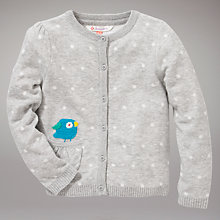 Buy John Lewis Bird Spotted Cardigan, Grey Online at johnlewis.com