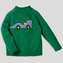 Buy John Lewis Car Pie Crust Jumper, Green Online at johnlewis.com