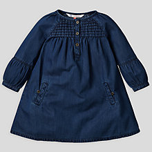 Buy John Lewis Chambray Dress, Navy Online at johnlewis.com