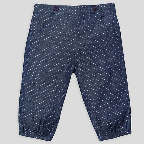 Buy John Lewis Baby Spot Trousers, Chambray Online at johnlewis.com