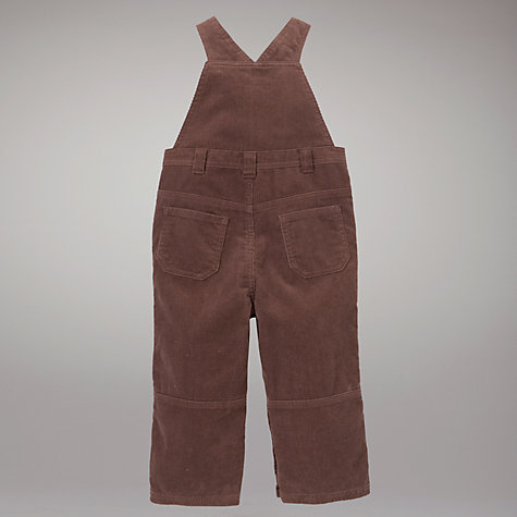 Buy John Lewis Corduroy Dungarees, Brown Online at johnlewis.com