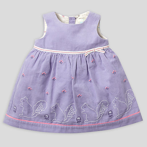 Buy John Lewis Baby Squirrel Pinafore Dress, Purple Online at johnlewis.com