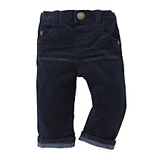 Buy John Lewis Corduroy Trousers, Navy Online at johnlewis.com