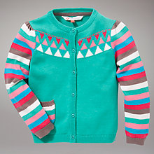 Buy John Lewis Intarsia Stripe Cardigan, Green Online at johnlewis.com