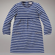 Buy John Lewis Striped Dress, Navy Online at johnlewis.com
