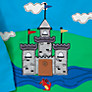 Buy John Lewis Long Sleeved Castle Scene Top, Blue/Multi Online at johnlewis.com
