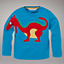 John Lewis Long Sleeved Dragon Top, Blue