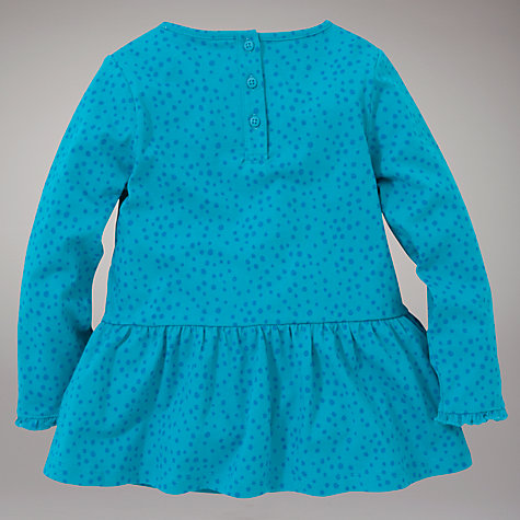 Buy John Lewis Spotted Peplum Top, Green Online at johnlewis.com