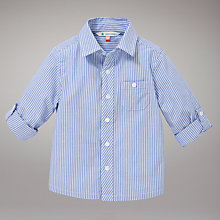 Buy John Lewis Long Sleeved Striped Shirt, Blue Online at johnlewis.com