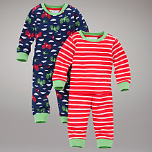 Buy John Lewis Motorbike Pyjamas, Pack of 2, Multi Online at johnlewis.com