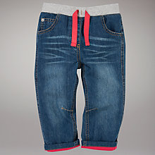 Buy John Lewis Ribbed Waist Jeans, Denim Online at johnlewis.com