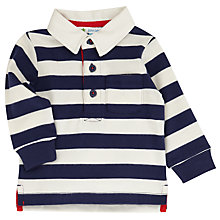 Buy John Lewis Baby Rugby Top, Navy/White Online at johnlewis.com
