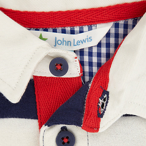 Buy John Lewis Rugby Top, Navy/White Online at johnlewis.com