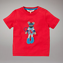 Buy John Lewis Mouse T-Shirt, Red Online at johnlewis.com