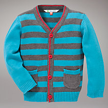 Buy John Lewis Striped Cardigan, Blue/Grey Online at johnlewis.com
